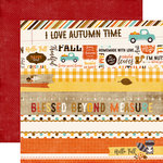 Echo Park - A Perfect Autumn Collection - 12 x 12 Double Sided Paper - Border Strips