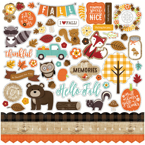 Echo Park - A Perfect Autumn Collection - 12 x 12 Cardstock Stickers - Elements