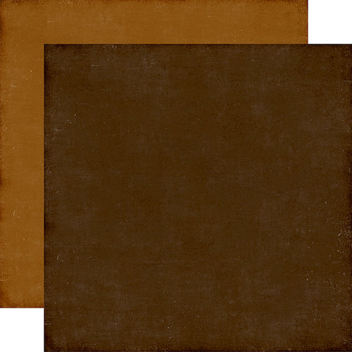 Echo Park - A Perfect Autumn Collection - 12 x 12 Double Sided Paper - Dark Brown