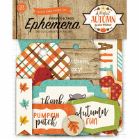 Echo Park - A Perfect Autumn Collection - Ephemera - Frames and Tags