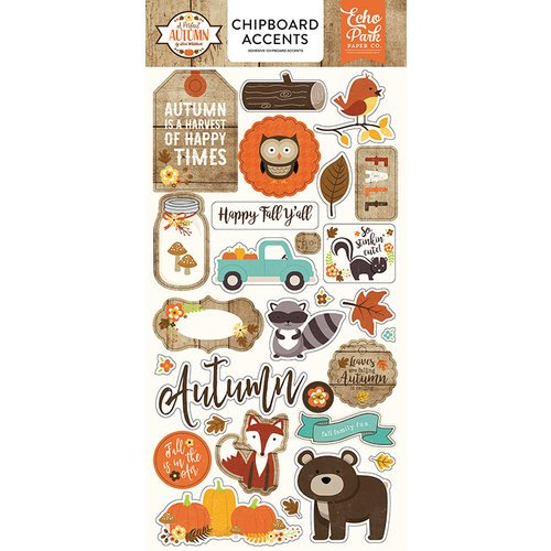 Echo Park - A Perfect Autumn Collection - Chipboard Stickers