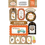 Echo Park - A Perfect Autumn Collection - Layered Cardstock Stickers