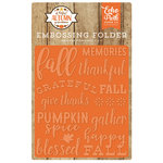 Echo Park - A Perfect Autumn Collection - Embossing Folder - Happy Fall