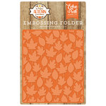 Echo Park - A Perfect Autumn Collection - Embossing Folder - Autumn Leaves