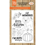 Echo Park - A Perfect Autumn Collection - Clear Acrylic Stamps - Fall Memories