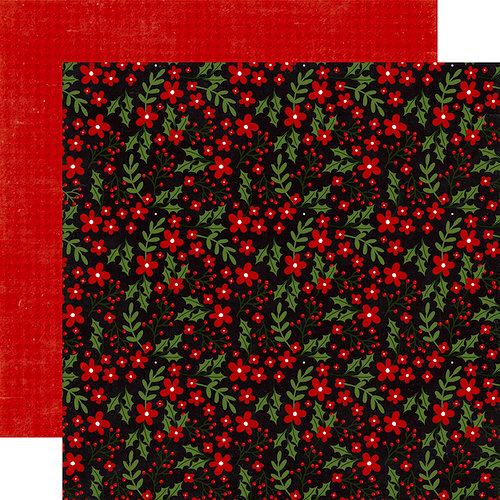 Echo Park - A Perfect Christmas Collection - 12 x 12 Double Sided Paper - Berry Merry Christmas