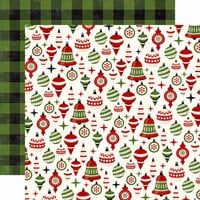 Echo Park - A Perfect Christmas Collection - 12 x 12 Double Sided Paper - Holiday Ornaments