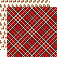 Echo Park - A Perfect Christmas Collection - 12 x 12 Double Sided Paper - Perfect Plaid