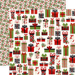 Echo Park - A Perfect Christmas Collection - 12 x 12 Double Sided Paper - Jolly Presents