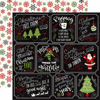 Echo Park - A Perfect Christmas Collection - 12 x 12 Double Sided Paper - Multi Journaling Cards