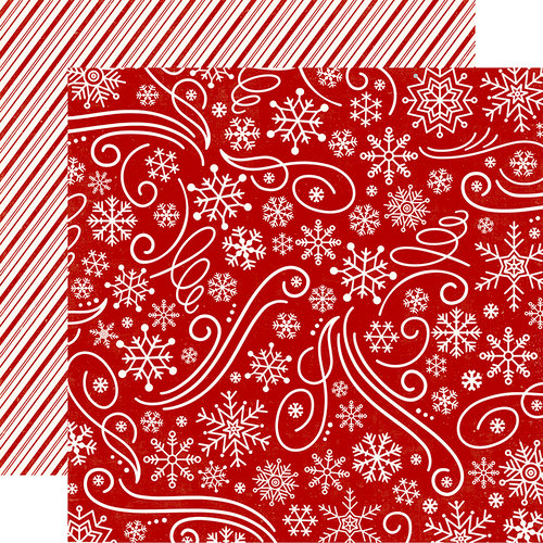 Echo Park - A Perfect Christmas Collection - 12 x 12 Double Sided Paper - Snowflake Swirl