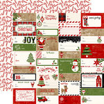 Echo Park - A Perfect Christmas Collection - 12 x 12 Double Sided Paper - Gift Tags