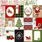 Echo Park - A Perfect Christmas Collection - 12 x 12 Double Sided Paper - 3 x 4 Journaling Cards