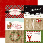 Echo Park - A Perfect Christmas Collection - 12 x 12 Double Sided Paper - 4 x 6 Journaling Cards