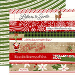 Echo Park - A Perfect Christmas Collection - 12 x 12 Double Sided Paper - Border Strips