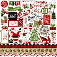 Echo Park - A Perfect Christmas Collection - 12 x 12 Cardstock Stickers - Elements