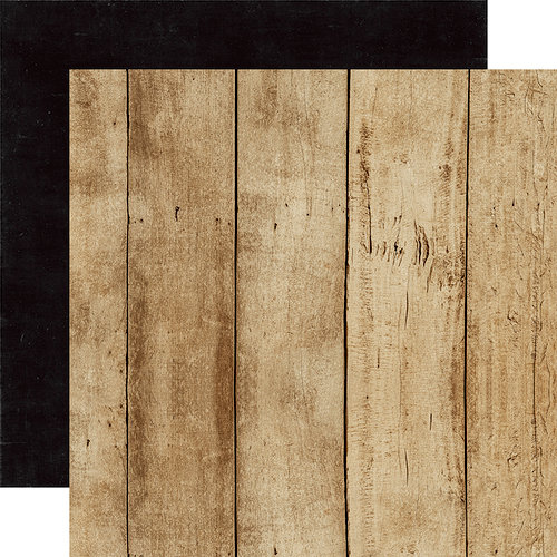 Echo Park - A Perfect Christmas Collection - 12 x 12 Double Sided Paper - Woodgrain