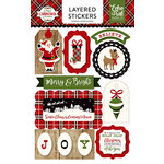 Echo Park - A Perfect Christmas Collection - Layered Cardstock Stickers