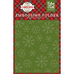 Echo Park - A Perfect Christmas Collection - Embossing Folder - Christmas Snowflakes