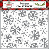 Echo Park - A Perfect Christmas Collection - 6 x 6 Stencil - Sparkling Snowflake