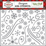 Echo Park - A Perfect Christmas Collection - 6 x 6 Stencil - Christmas Wonderland
