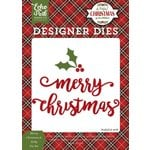 Echo Park - A Perfect Christmas Collection - Designer Dies - Merry Christmas and Holly