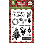 Echo Park - A Perfect Christmas Collection - Clear Acrylic Stamps - We Wish You A Merry Christmas
