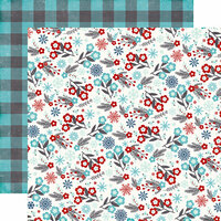 Echo Park - A Perfect Winter Collection - 12 x 12 Double Sided Paper - Floral Flurries