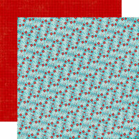 Echo Park - A Perfect Winter Collection - 12 x 12 Double Sided Paper - Winter Berries