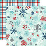 Echo Park - A Perfect Winter Collection - 12 x 12 Double Sided Paper - Snowflake Flurry