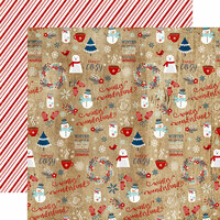 Echo Park - A Perfect Winter Collection - 12 x 12 Double Sided Paper - Winter Wonderland