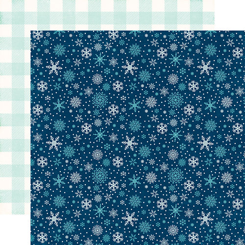 Echo Park - A Perfect Winter Collection - 12 x 12 Double Sided Paper - Snowy Night