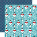 Echo Park - A Perfect Winter Collection - 12 x 12 Double Sided Paper - Snowmen Fun