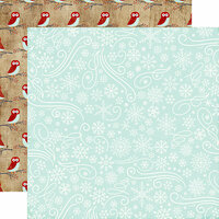Echo Park - A Perfect Winter Collection - 12 x 12 Double Sided Paper - Snowflake Swirls