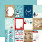 Echo Park - A Perfect Winter Collection - 12 x 12 Double Sided Paper - 3 x 4 Journaling Cards