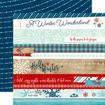 Echo Park - A Perfect Winter Collection - 12 x 12 Double Sided Paper - Border Strips