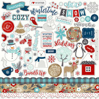 Echo Park - A Perfect Winter Collection - 12 x 12 Cardstock Stickers - Elements