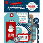 Echo Park - A Perfect Winter Collection - Ephemera - Frames and Tags