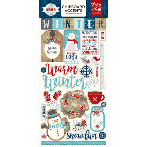 Echo Park - A Perfect Winter Collection - Chipboard Stickers