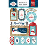 Echo Park - A Perfect Winter Collection - Layered Cardstock Stickers
