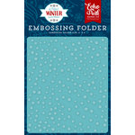 Echo Park - A Perfect Winter Collection - Embossing Folder - Snow Day