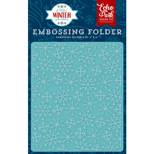 Echo Park - A Perfect Winter Collection - Embossing Folder - Frosty Snowflakes