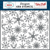 Echo Park - A Perfect Winter Collection - 6 x 6 Stencil - Sweet Snowflakes