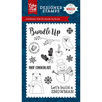 Echo Park - A Perfect Winter Collection - Clear Acrylic Stamps - Bundle Up