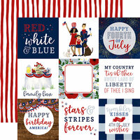 Echo Park - America The Beautiful Collection - 12 x 12 Double Sided Paper - 4 x 4 Journaling Cards