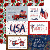 Echo Park - America The Beautiful Collection - 12 x 12 Double Sided Paper - 4 x 6 Journaling Cards