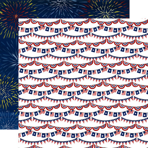 Echo Park - America The Beautiful Collection - 12 x 12 Double Sided Paper - Stars and Stripes