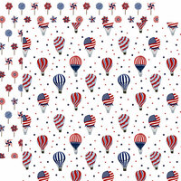 Echo Park - America The Beautiful Collection - 12 x 12 Double Sided Paper - Fourth of July