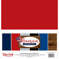 Echo Park - America The Beautiful Collection - 12 x 12 Paper Pack - Solids