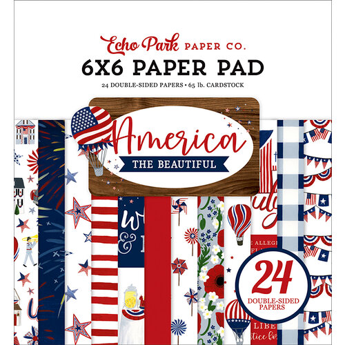 Echo Park - America The Beautiful Collection - 6 x 6 Paper Pad